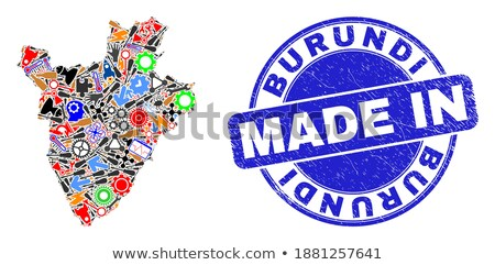Burundi país bandeira mapa forma texto Foto stock © tony4urban