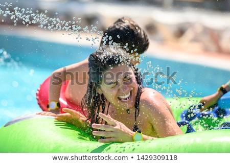 Stock fotó: Gyerekek · aquapark · víz · nyár · jókedv · energia