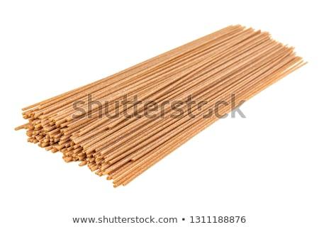 ストックフォト: 全粒小麦 · スパゲティ · 調理済みの · 食品 · パスタ · スタジオ