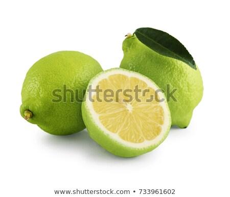 gyümölcs · izolált · fehér · textúra · étel · levél - stock fotó © alessandrozocc