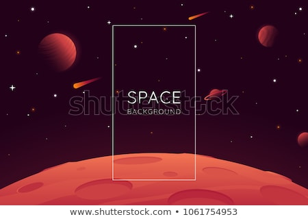 Red Planet Mars in space. Space landscape Stock photo © orensila
