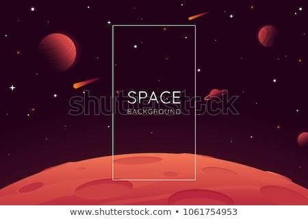 Czerwony planety przestrzeni krajobraz ilustracja wektora Zdjęcia stock © orensila