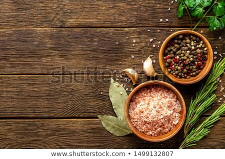 verschillend · specerijen · houten · Rood · macro · knoflook - stockfoto © constantinhurghea