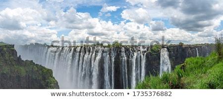 Vízesés Zimbabwe kilátás folyó déli Afrika Stock fotó © EcoPic