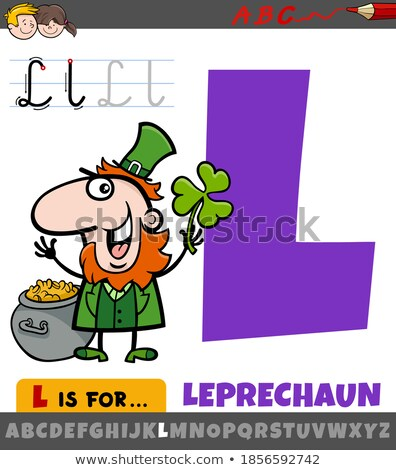 Alphabet  L is for leprechaun Stock photo © bluering