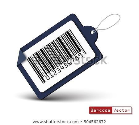Negócio tratar código de barras ilustração branco mão Foto stock © get4net