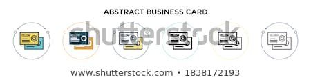 Business and office, yellow fill icons set stock photo © ConceptCafe