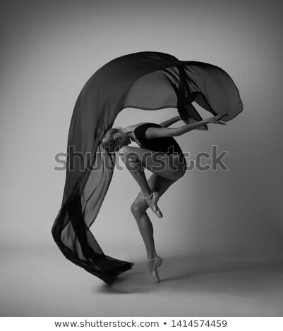 バレリーナ 黒 スリム 立って 位置 バレエ ストックフォト © bezikus
