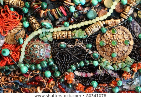 necklace of precious stones beautiful rich jewelry luxurious b stock photo © maryvalery