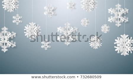 Christmas Paper With Snowflakes Stock photo © derocz