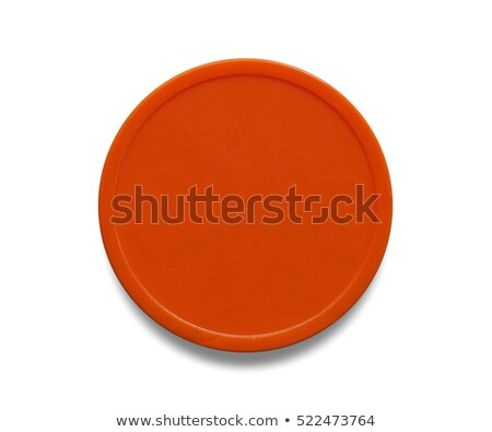 Orange plastic token money Stock photo © claudiodivizia