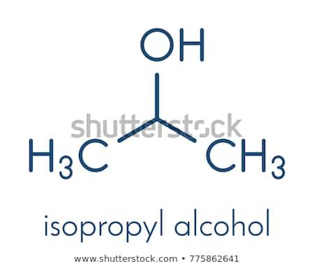 Isopropanol molecules Stock photo © bluering