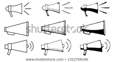 Speaker volume sketch icona vettore isolato Foto d'archivio © RAStudio
