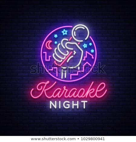 illustration of karaoke Stock photo © adrenalina