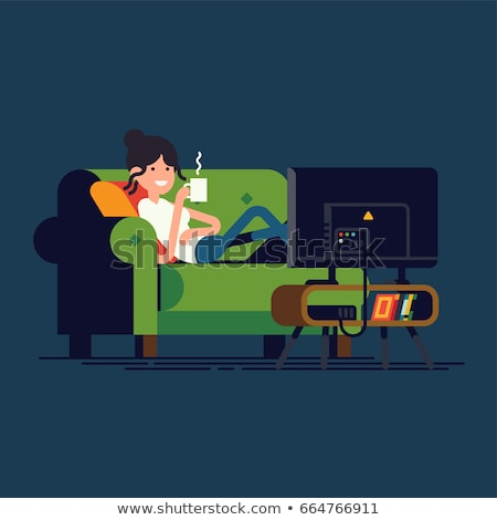 TV screen with adult content icon Stock photo © angelp