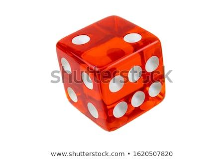 Two white dice closeup Stock photo © Frankljr
