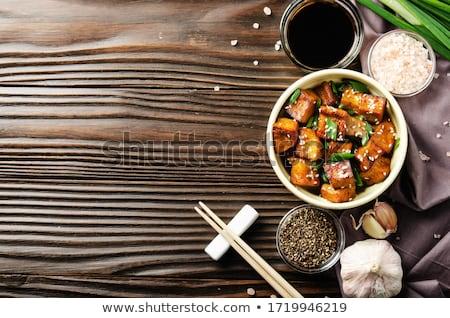 Soya peyniri soya sosu akşam yemeği Asya yemek Stok fotoğraf © M-studio