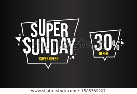sunday super sale discount banner design for your marketing and  Stock photo © SArts