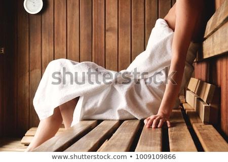 Lány szauna illusztráció nők pihen fürdőkád Stock fotó © adrenalina