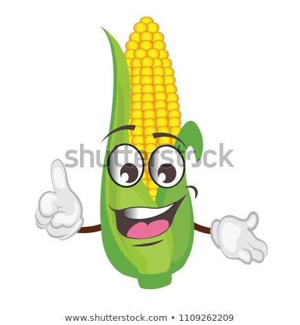 corn cob caracther Stock photo © adrenalina