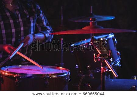 Középső rész női dobos koncert előad fiatalság Stock fotó © wavebreak_media