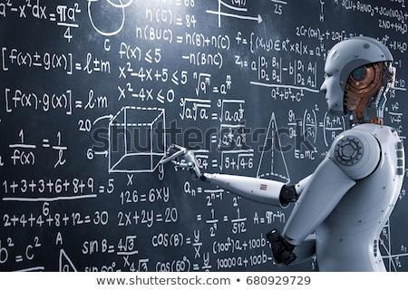inteligência · artificial · humanismo · ciberespaço · digital · código · binário - foto stock © lightsource