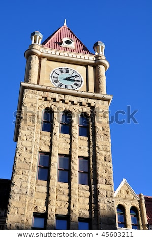 clock tower in calgary stock photo © benkrut