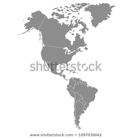 America continente mappa terra mondo modello Foto d'archivio © ixstudio