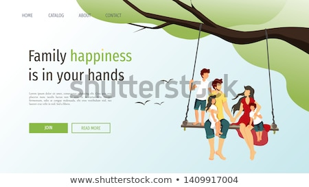 мальчика дерево Swing трава природы Сток-фото © IS2