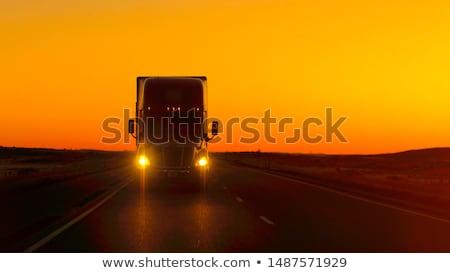 Teherautó autópálya út hajó sebesség profi Stock fotó © stevanovicigor