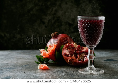 Pomegranate On A Glass Background Stock photo © user_9834712