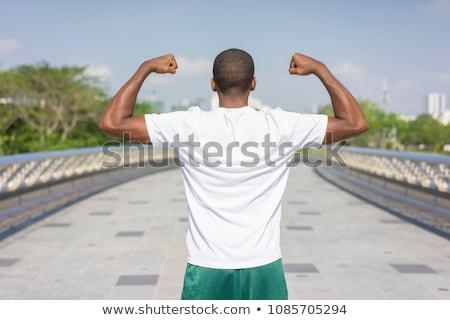 Ver de volta imagem jovem esportes homem Foto stock © deandrobot