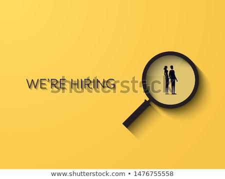 Woman searching for job vector illustration. Stock photo © RAStudio