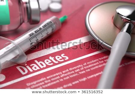diyabet · tanı · tıbbi · basılı · mavi · hapları - stok fotoğraf © tashatuvango
