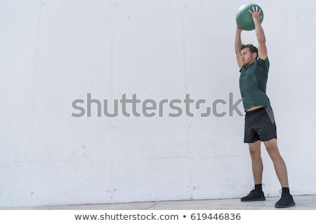 Homme · musculaire · anatomie · vue · arrière · illustration - photo stock © is2
