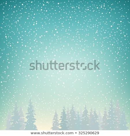 Natal enfeitar inverno neve cair verde Foto stock © romvo