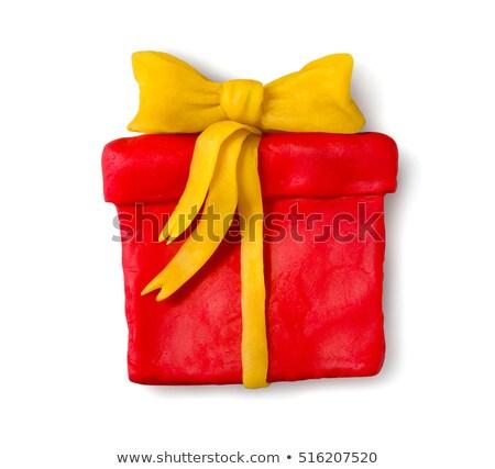Hand made plasticine figure of gift box  Stock photo © Sonya_illustrations