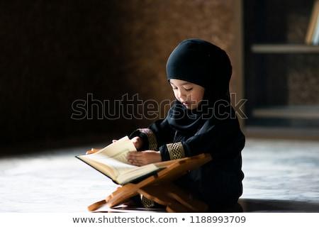 Kid Girl Muslim Student Stock photo © lenm