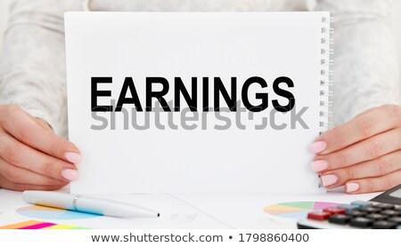 Kártya akta felirat üzleti stratégia írott modern Stock fotó © tashatuvango