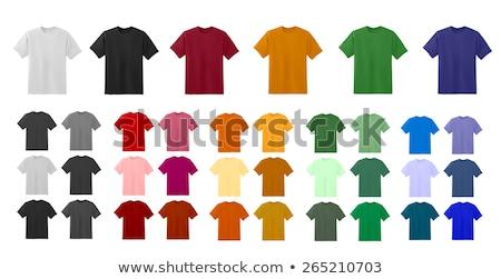 blue green purple pink t shirt template stock photo © romvo