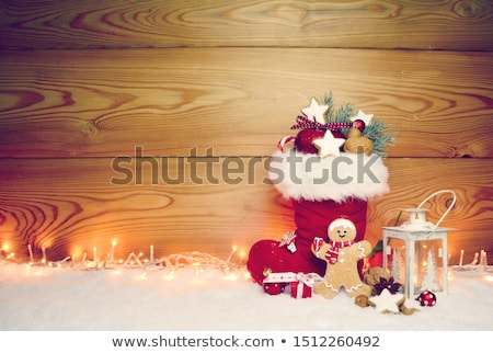 many cute toys on wooden board stock photo © bluering