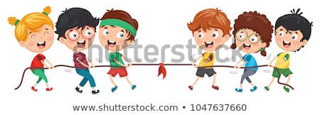 Boy pulling rope Stock photo © IS2