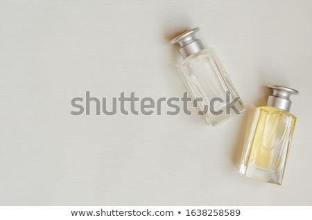Foto stock: Dois · perfume · garrafas · isolado · branco · moda