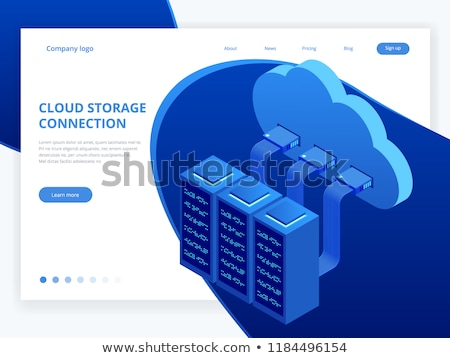 Cloud technology Isometric concept, Modern computing services. Integrated digital web cloud storage Stock photo © Andrei_