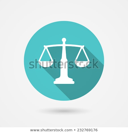 Green Scales and Libra Icon Vector Illustration Stock photo © cidepix
