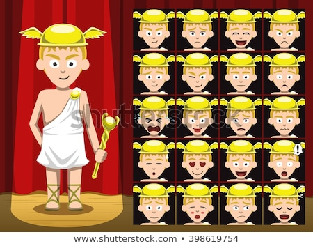 cartoon angry hermes boy stock photo © cthoman
