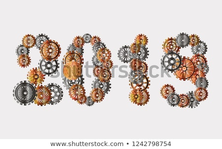 Steampunk 2019 with gears Stock photo © blackmoon979