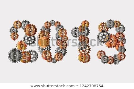 Steampunk sebességváltó arany számok antik óra Stock fotó © blackmoon979