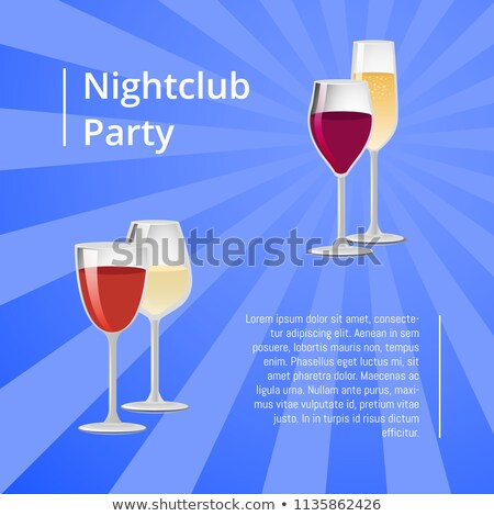 nightclub party poster with pair of glasses vector stock photo © robuart