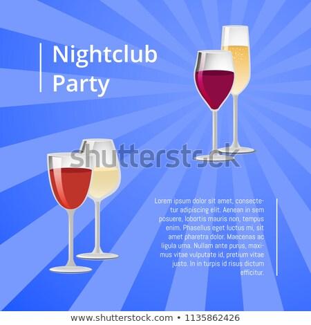 Discoteca party poster coppia occhiali vettore Foto d'archivio © robuart